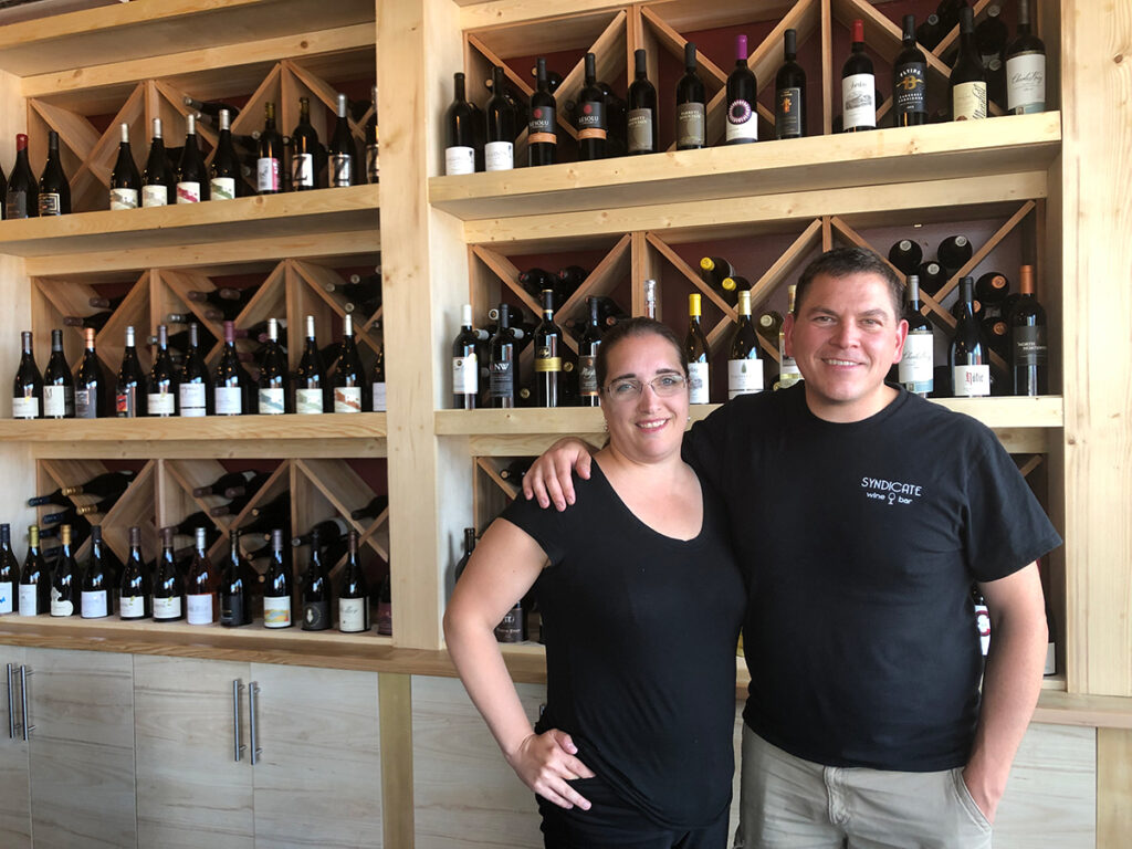 Owners of Syndicate Wine Bar in Beaverton, Angela and David Anderson