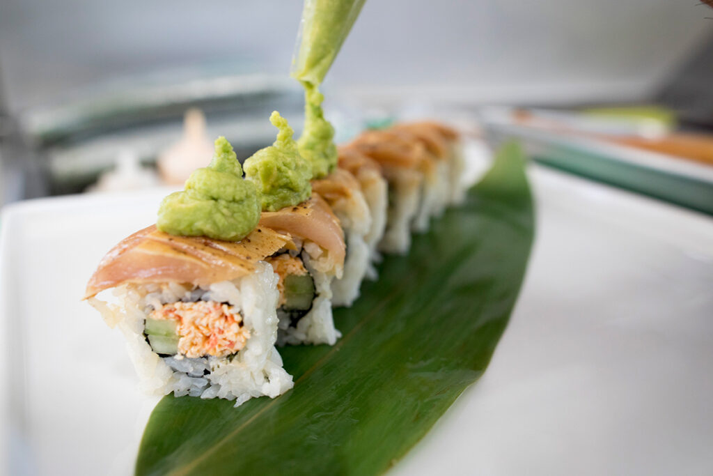 sushi roll from Yoshi's Sushi Food Truck